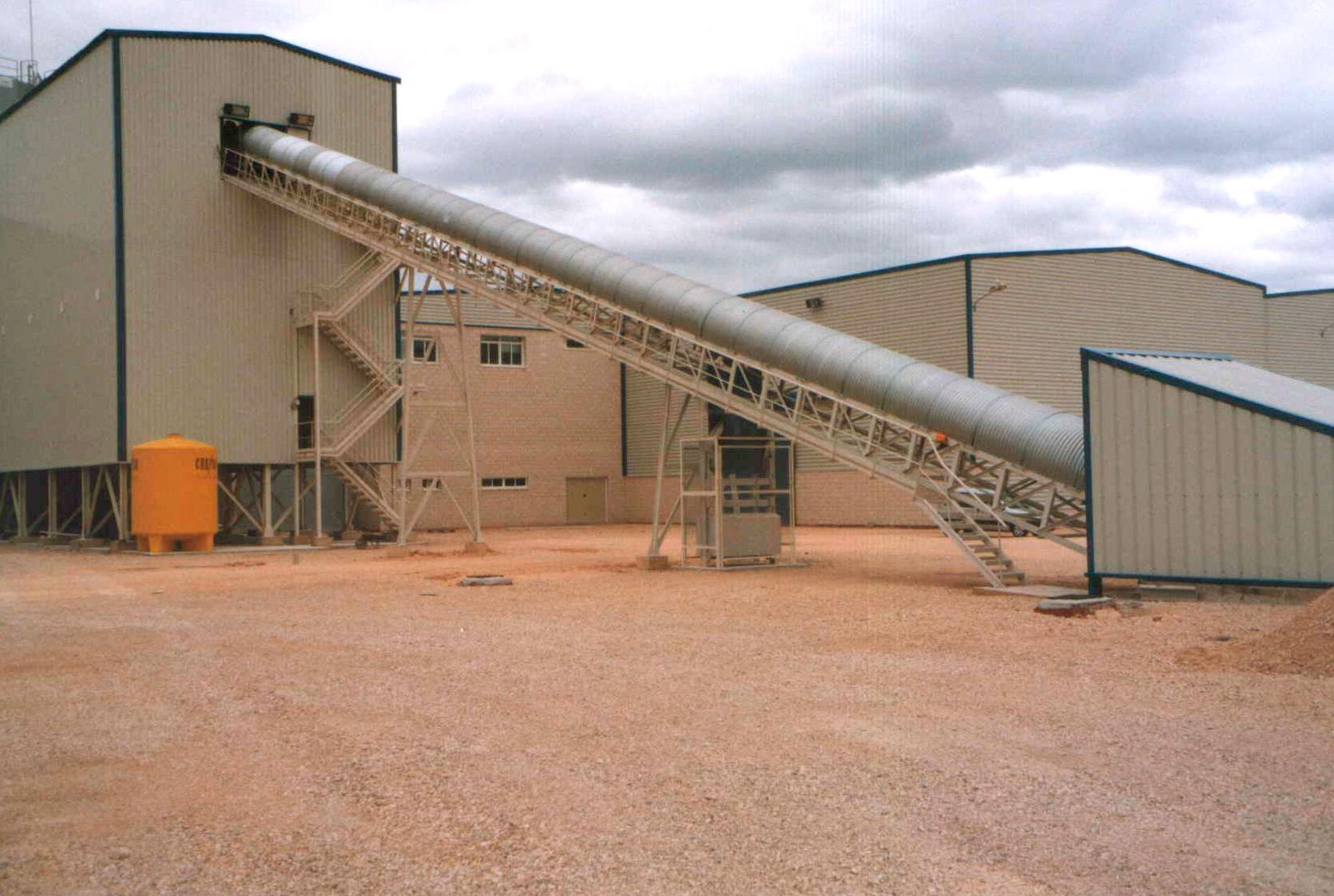 Transportadores de banda para plantas de hormigón