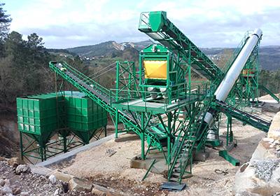 Planta de producción de minerales industriales
