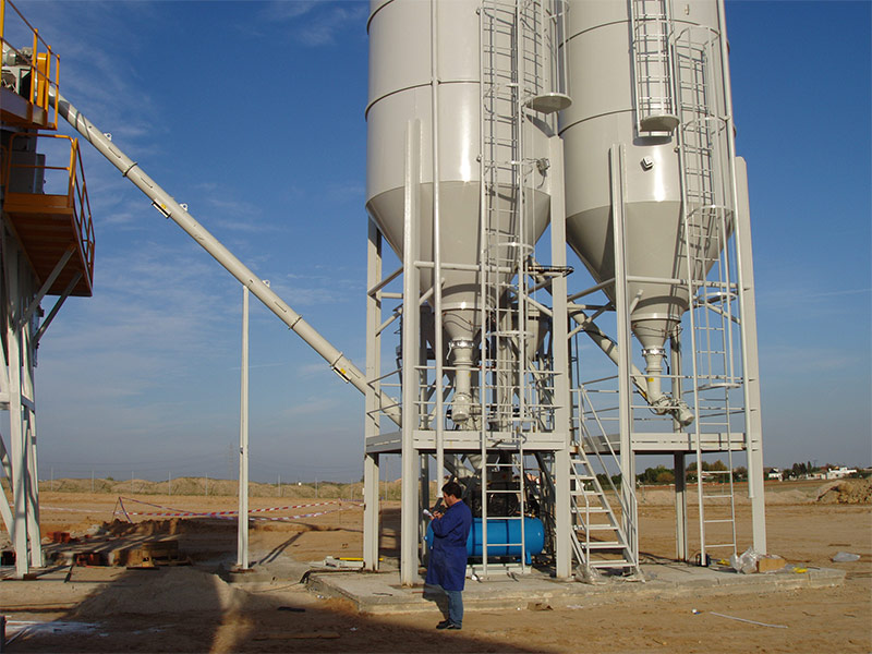 Fabricación de suelo - cemento