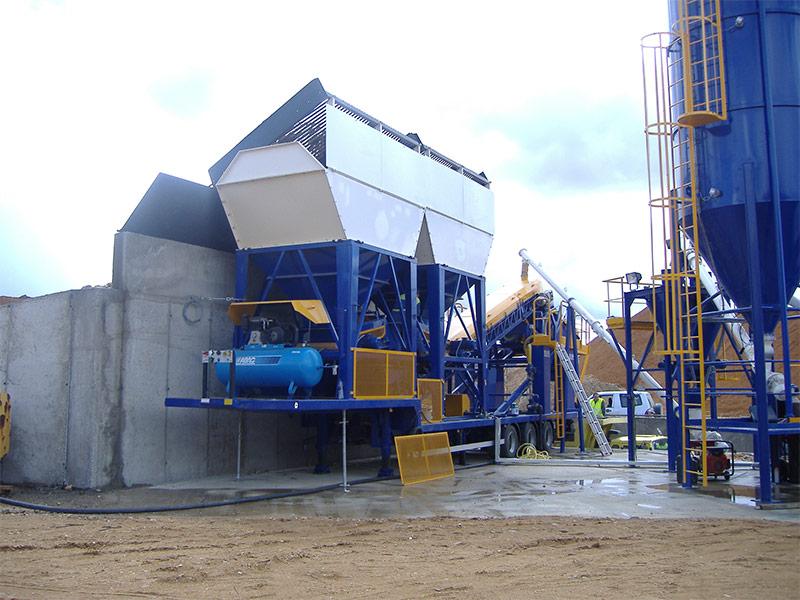 Planta de fabricación de grava - cemento