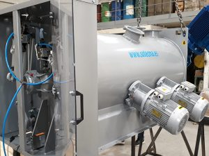 Mezcladora planta fabricación grava-cemento