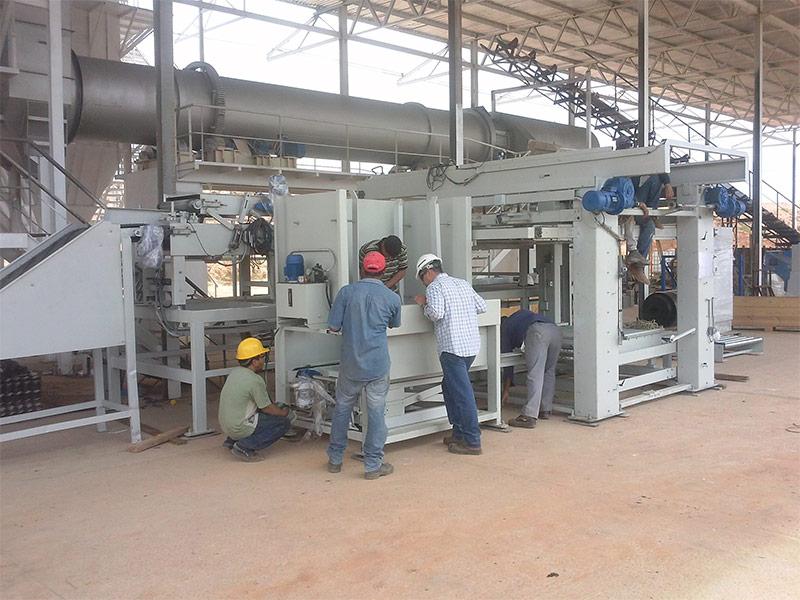 Instalación de fabricación de mortero seco