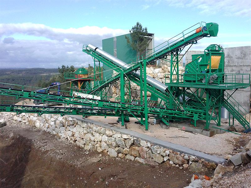 Planta procesamiento de mineral industrial