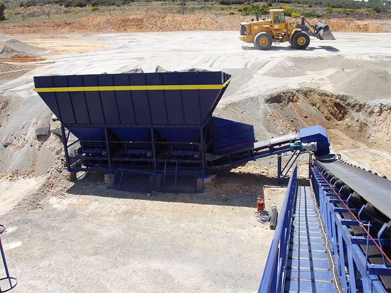 Instalación de procesado mineral industrial
