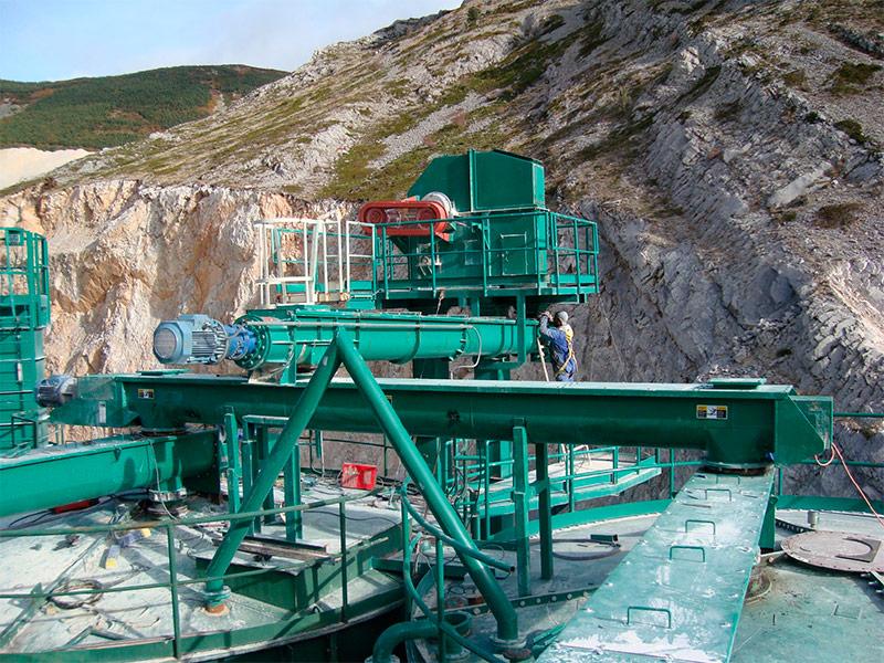 Planta procesado mineral industrial
